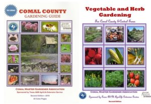 Covers of CMG's gardening guides